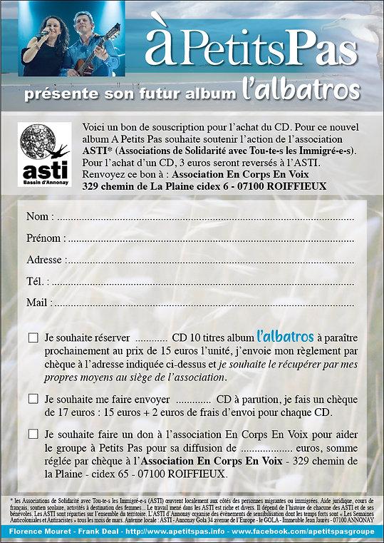 Bon de souscription Albatros - A Petits