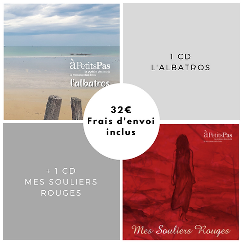 "1 CD ""L'albatros"" + 1 CD ""Mes souliers rouges"""