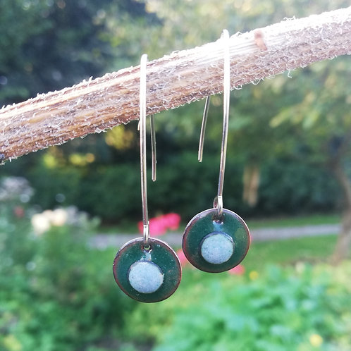 Fiadh Hanging Dots Enamel Earrings