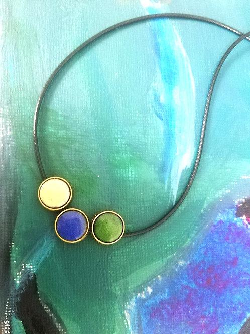 Dots Enamel Necklace