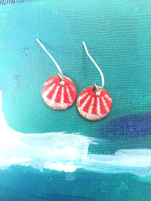 Lines Enamel Earrings