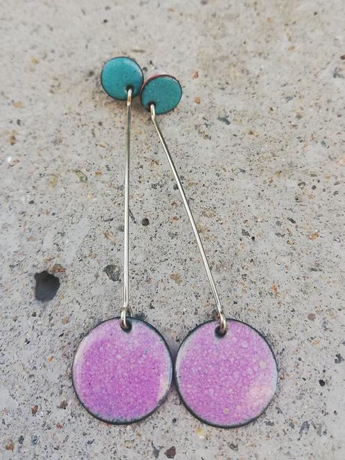 Aoife Studs Enamel Earrings