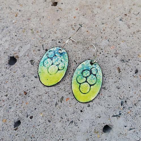 Bubbles Enamel Earrings