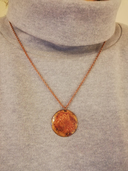 Large Glass Enamel Necklace