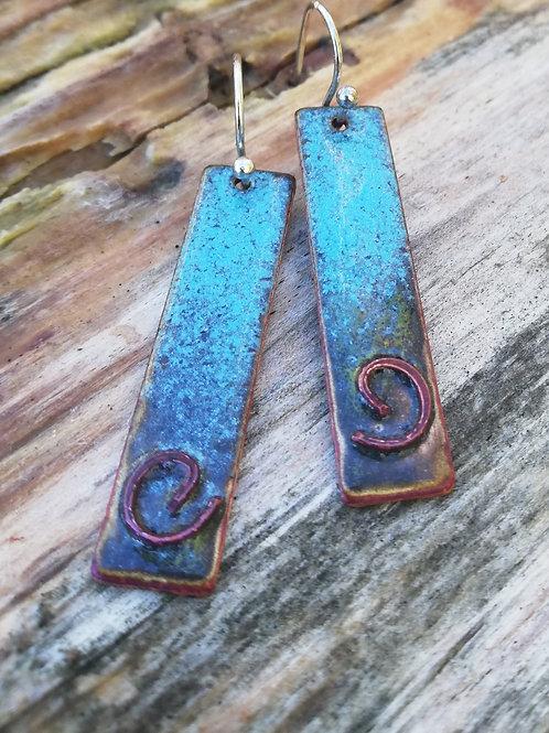 Copper Celtic Spiral Earrings