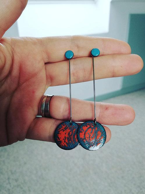 Dawn Enamel Earrings