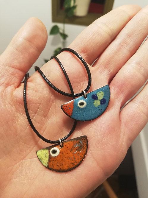 Birdy Enamel Necklace