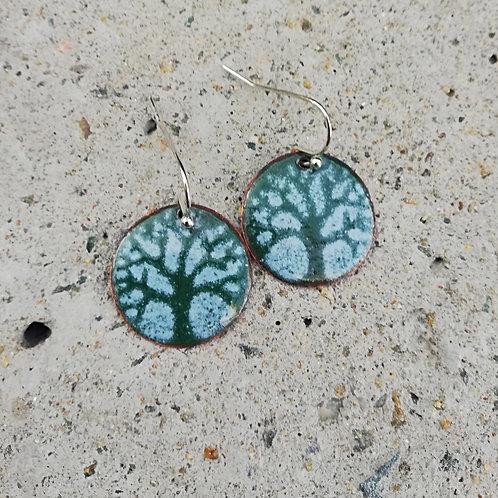 Celtic Tree of Life Enamel Earrings