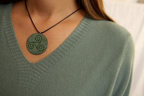 Triskele Enamel Necklace