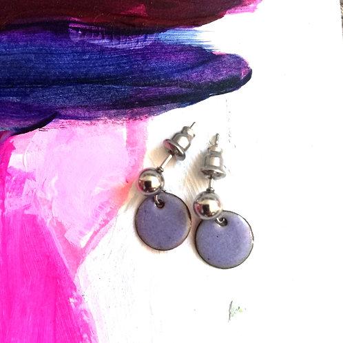 Tiny Drops Enamel Earrings