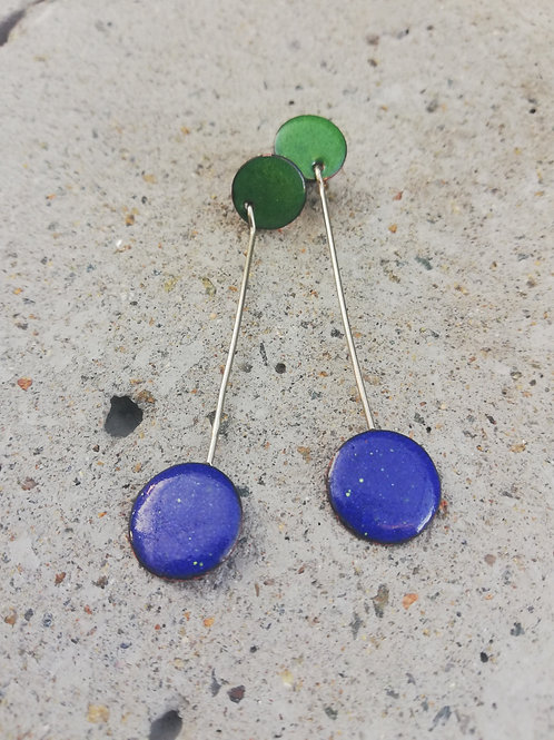 Aoife Studs Enamel Earrings
