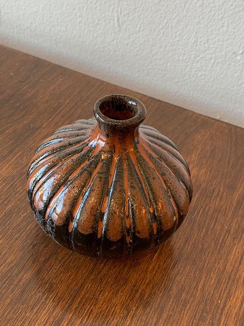 Rust & Black Bud Vase