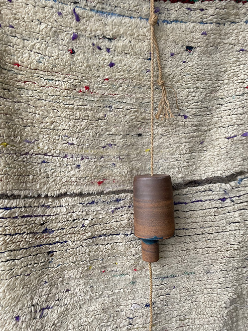ceramic bell w/ blue by Alison Andersson