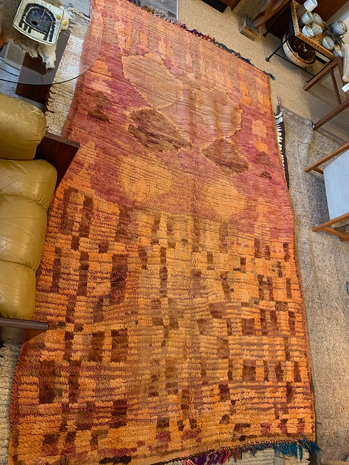 1940's Burnt Orange / Red Abstract Rug