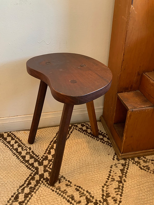 French 'Bean' Vintage Wooden Stool