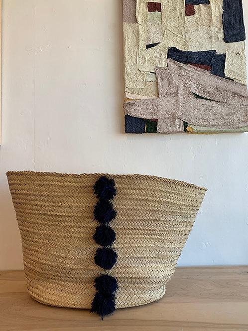 Pom Pom Laundry Basket