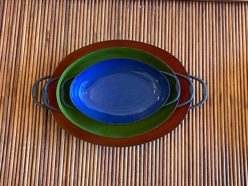 Enamel Scandinavian Hot Plates Set