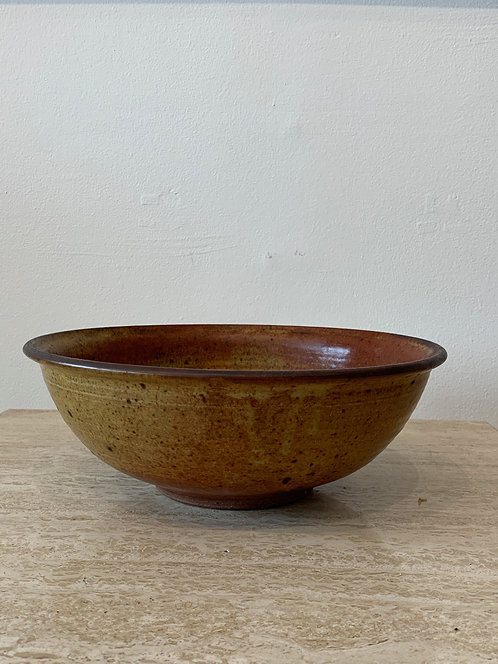 Brown/ Red Ceramic Salad Bowl
