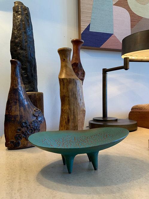 CeramicTeal Oval Dish - Dan Hukill