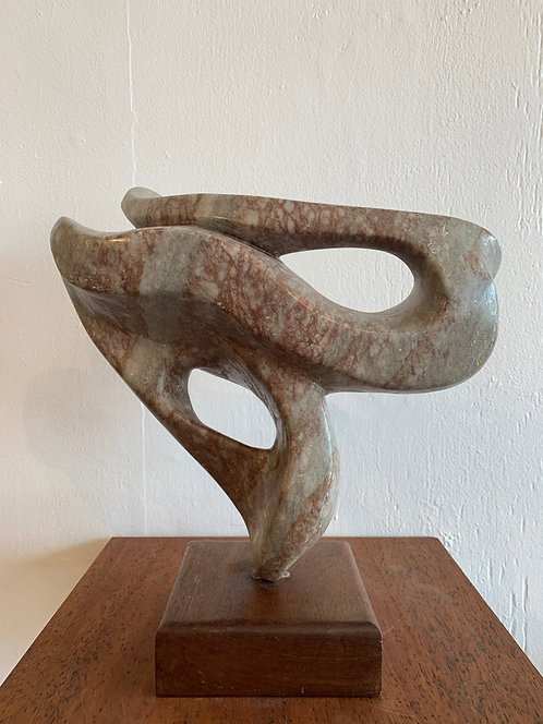 Twisted Marble Sculpture