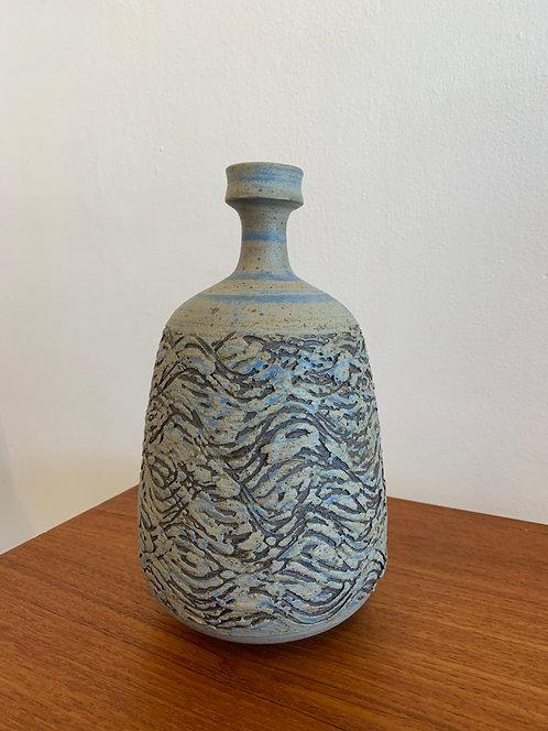 Vintage Ceramic Wave Texture Vase
