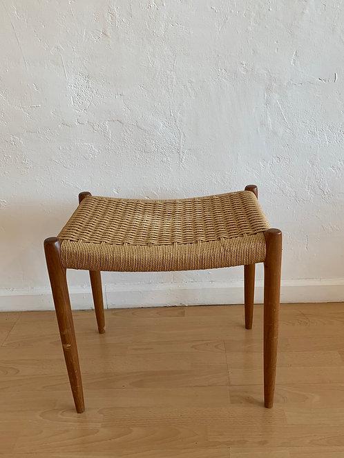 Mid Century Danish Woven Stool