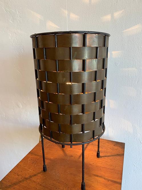 Mid Century Woven Metal Lamp