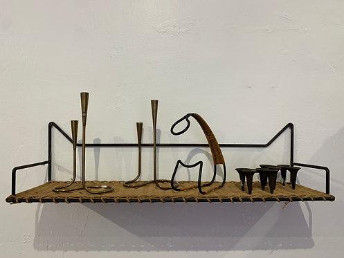 French Rattan Iron Shelves