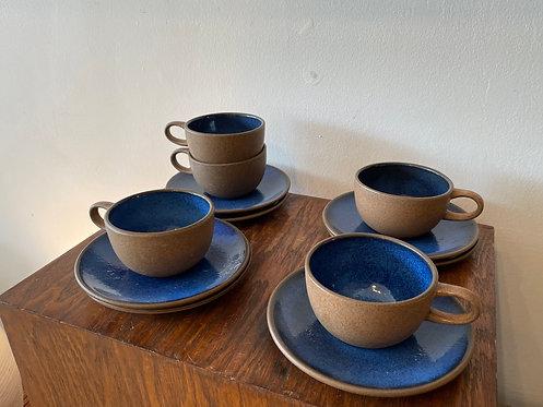 1960's Heath Blue Tea Cup w/ saucer