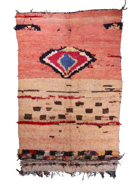 1970's Abstract Boujad Moroccan Rug