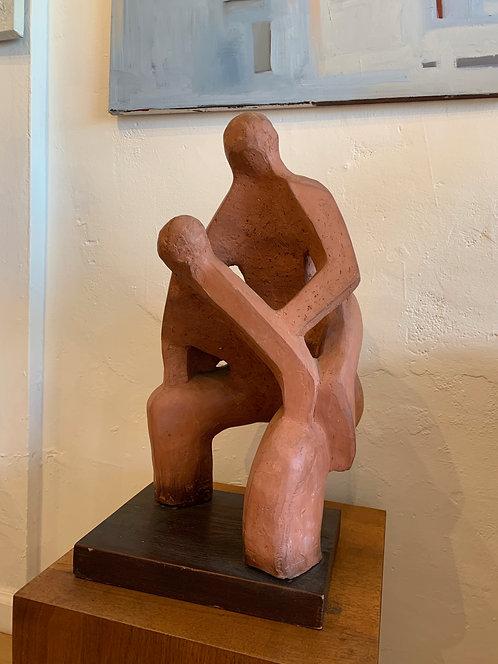 Abstract 2 Man Sculpture