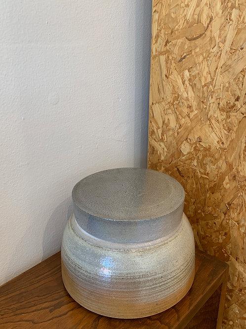 Large Ceramic Jar w/ Lid