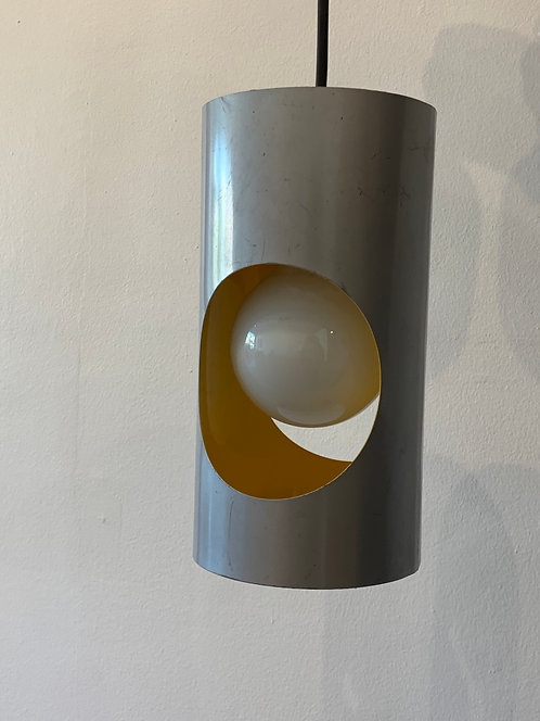 1960's Metal , Yellow French Lamp
