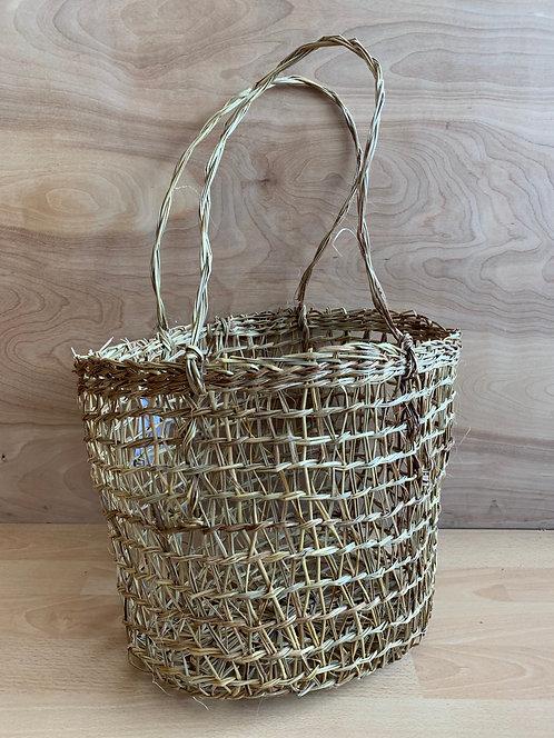 Handwoven ' Market Basket' w/ 2 Handles