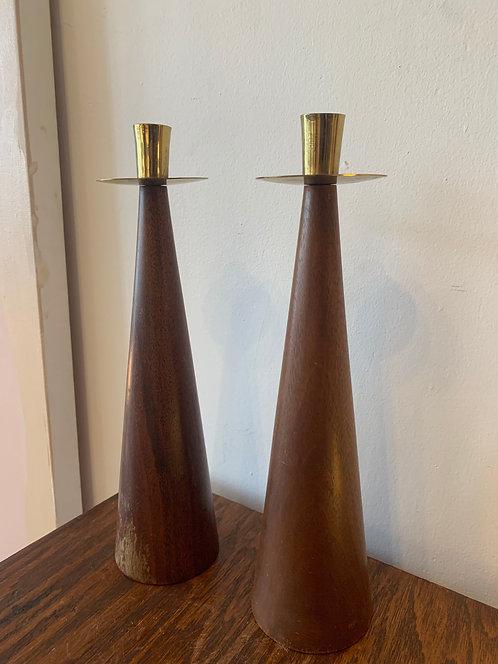 Pair of Danish Candlesticks
