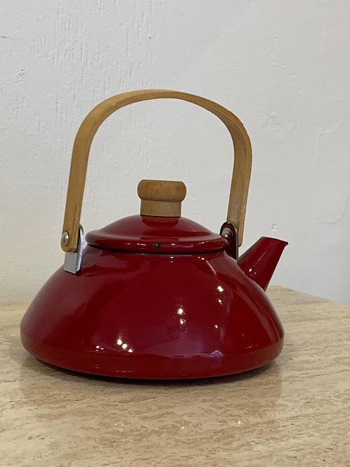 Danish Red Enamel Tea Pot/ Kettle