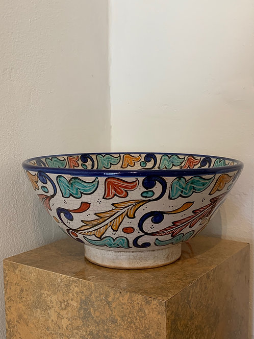 Ceramic Hand Painted Moroccan Bowl