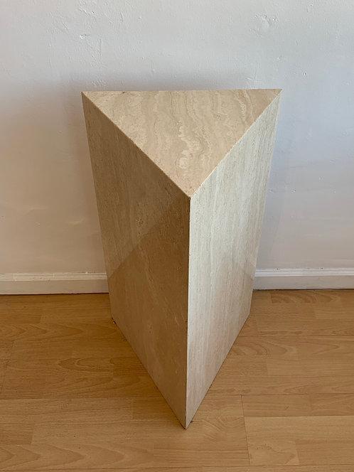 Tall Travertine Triangle Pedestal