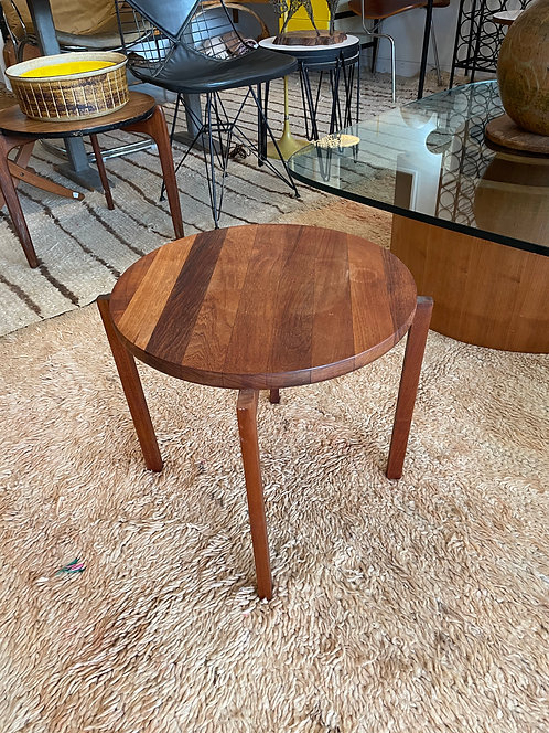 Danish Round Wooden Side Table