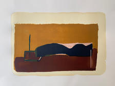 1/1 'under the sun', lithography print, mix media, 2021