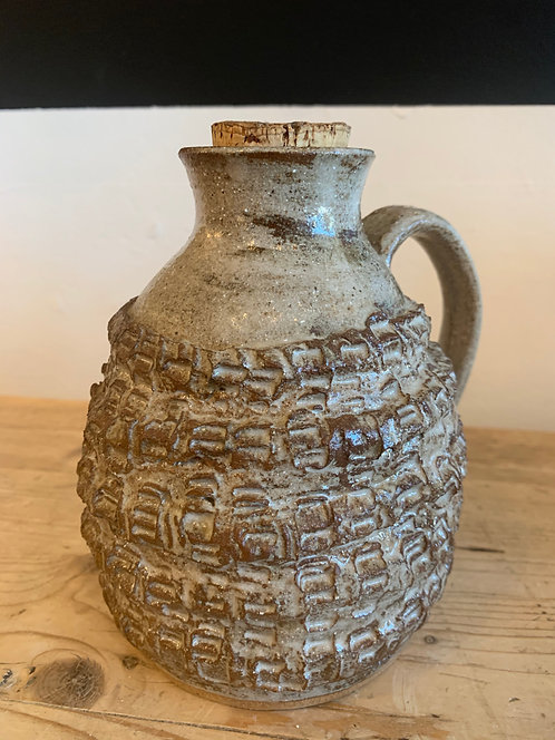 Ceramic Textured Jug with Cork
