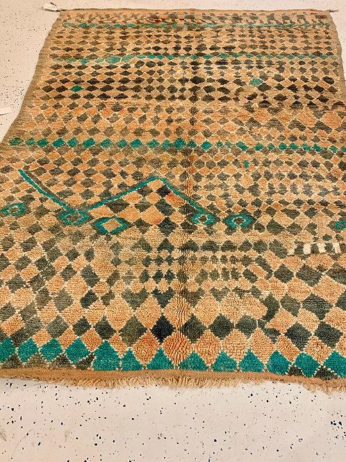 Vintage Moroccan Teal 1940's Boujad