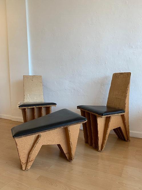 Joel Stearns - Cardboard Chairs w/ Ottoman