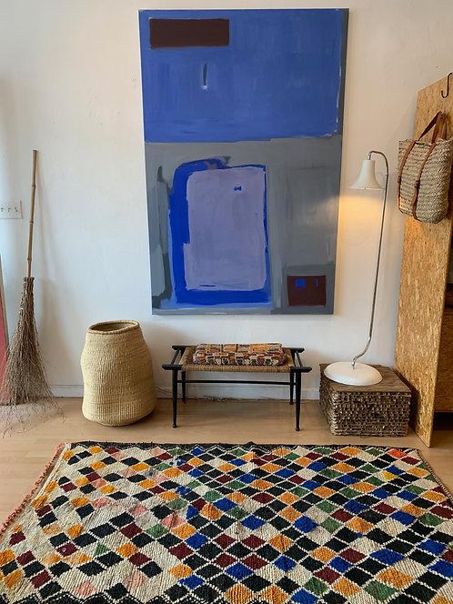 Vintage Diamond Moroccan Boujad Rug