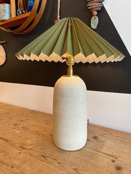 Ceramic Table Lamp w/ Green shade by Salamat