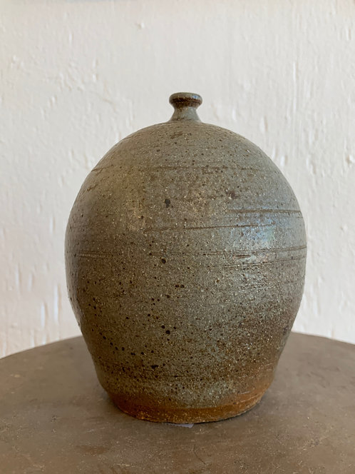 Vintage Ceramic Grey Bud Vase