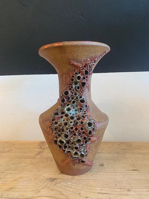 Vintage Ceramic Textured Abstract Vase