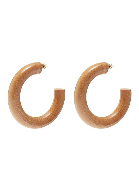 The Large Pine Hoop Earrings