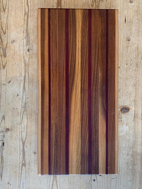 ' Multiple Stripe Linear' Handmade Cutting Board
