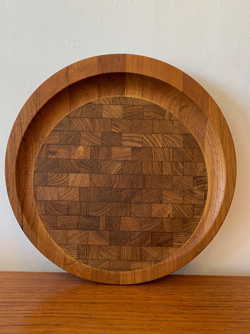 Large Round Wooden 'Dansk' Cutting Board